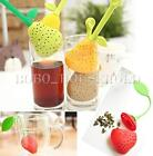 Adorable Strawberry Pear Silicone Tea Leaf Filter Strainer Herbal Spice Infuser
