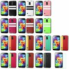 PU Leather Backing Candy Skin Case For Samsung Galaxy S5+LCD Protector