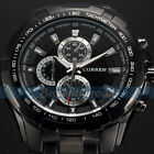 Fashion Stainless Steel Band Luxury Sport Analog Quartz Clock Mens Wrist Watch