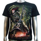 Vampire Skull Speaker Electric Amp Bass Guitar Emo Rock Tattoo Men T-shirt M & L