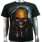 Pirate Salior Skull Costume Gun Sword Hat Bandana Ship Tattoo Mens T-Shirt M & L