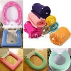 Toilet Cover Seat Pads Closestool Potty Lid Top Bathroom Warmer Washable Button