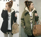 New Womens Ladies Hooded Jackets Warm Winter Zip Up Parka Coats Outerwear