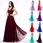 Stock New Long Chiffon Bridesmaid Dresses Formal Prom Party Evening Dress Gown