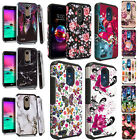 For Lg Optimus Fuel L34C IMPACT TUFF HYBRID Case Phone Cover + Screen Guard
