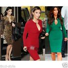 Fashion Charming Women Long Sleeves Sexy Mental Slim Fit Party Office Lady Dress