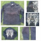 Black Cotton long sleeve jacket Black military inspired jacket Mens Jacket  M-2X