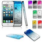 Rain Drop Hard Apple Back Case Phone Cover Protector Skin For iPhone 5 5S Film