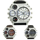 Sport Military Luxury Men's Oulm Quartz Dial Clock Stainless Steel Wrist Watch