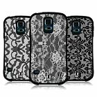 HEAD CASE DESIGNS BLACK LACE HYBRID TPU BACK CASE FOR SAMSUNG GALAXY S5