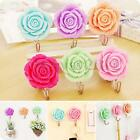 Rose Self Adhesive Stick On Door Wall Bathroom Towel Peg Hanger Holder Tile Hook