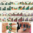Mode 10pcs Sticker Autocollant Ongle Papillon Plume Déco Gel UV Nail Art Tips