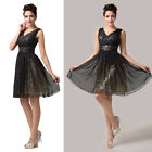 Sexy V Design Slim Fit Short Bridesmaid Evening Dance Wedding Ball Party Dresses