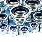 M12 NYLOC LOCK NUT 12MM ZINC PLATED 10 20 50 100 & 200 PACKS AVAILABLE