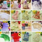 100pcs Strong Organza Gift Bag Wedding Favor Jewelry Pouch Candy Chocolate Bead
