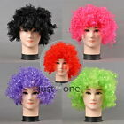 Unisex Women Men Curly Fancy Dress Cosplay Clown Elastic Faux Hair Wig Extension