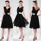 FREE SHIP New Sexy V-Neck Ball Gown Cocktail Bridesmaid Evening Prom Short Dress