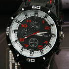 Men F1 Big Dial Silicone Strap Sports Army Watches Party Wrist Watch Fashion