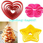 6Pcs Multi-style Cake Cookie Cutter sugar craft Fondant Pastry Decorating tools