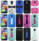HEAVY DUTY RUBBER SKIN + HARD KICKSTAND CASE FOR Samsung Galaxy Model Cell Phone