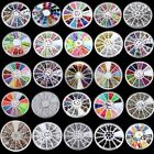 Hot Acrylic UV Gel Nail Art Sticker Wheels Various Gems Crystal Tip Decoration