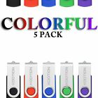5pcs 1-16GB Colorful Rotating Memory Sticks USB2.0 Flash Pen Drives Thumb U Disk