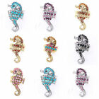 Long Body Hippocampal Colorful Clear Crystal Rhinestone Stretchy Ring 7 Colors