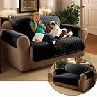 Quilted Sofa Protector Water Repellent Furniture Cover, 2 sizes, Black