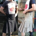 Heavy Duty Cotton Work Kilt Utility Kilt Colours: Black / Khaki Made in the UK