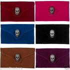 New Skull Faux Velvet Clutch Bag Handbag with Shoulder Chain Evening Bags
