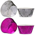 Cupcake Muffin Cases 40pcs Large Purple And Silver Fuchsia Paper And Foil Coated