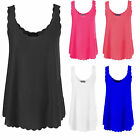 NEW WOMENS SCALLOP CAMI TOP SWING VEST STRAPPY TOP SLEEVELESS TOP 8,14