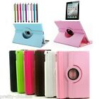 360° Rotate Leather Case Cover Apple ipad Mini Smart 2/3/4 Air 5 Stand Stylus