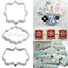 Cake Pastry Fondant Fancy Sugarcraft Decorating Cookies Cutter Baking Tool Mold