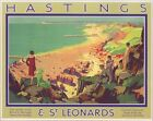 1930's Southern Railways Hastings Railway Poster A3 Print