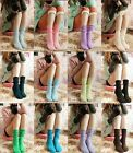 Womens Girl Cute Knit Hemming Short Stockings Socks Fashion Candy Colors Sock