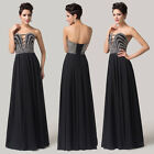 New Long Strapless Wedding Bridesmaid Party Prom Cocktail Pageant Dress Ballgown