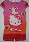 New Hello Kitty Summer Pajamas Toddler Girls size 4 6 Sleepwear Short Sets Pjs