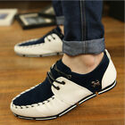 Fashion Men Casual Driving Moccasin Lace up Loafer Shoes White Black Size 7-10.5