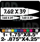 7.62x39 GUN DECALS AMMO CAN LABELS AK AR GUN SAFE TOOLBOX TRUCK
