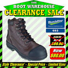 Blundstone 'Brute' 693. Steel Toe Safety. Chestnut  Ankle Boots.  LIMITED SIZES