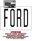 TR116 1961-63 FORD UNIBODY PICKUP TRUCK - TAILGATE LETTER SET - DECAL