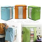 Large Clothes Bedding Duvet Zipped Laundry Pillows Non-woven Storage Bag Box