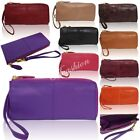 New Womens Genuine Leather Clutch Party Wedding Wallets And Purses With Zipped