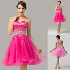 Sweetheart Mini Bridesmaid Wedding Party Prom Ballgown Cocktail Evening Dresses