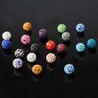 20x Czech Rhinestones Crystal Clay Beads Shambhala Round Disco Ball Beads 10mm