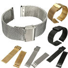 Stainless Steel Watch Strap Clasp Shark Mesh Watch Band Bracelet 18 20 22mm