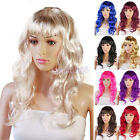 Fashon Womens Ladies Curly Flick Clip Cosplay Party Fall Shades Full Wigs Hair