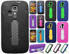 For Kyocera Hydro Life C6530 IMPACT Hybrid Rubber Case Kickstand Phone Cover