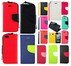 For Apple iPhone 5 5S SE Premium Leather 2 Tone Wallet Case Pouch Flip Cover